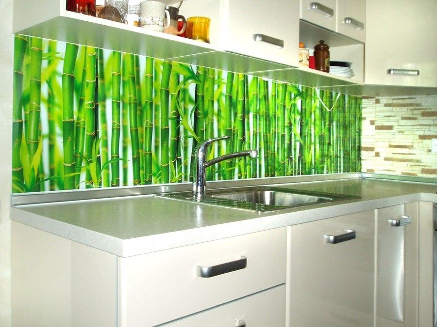 Кухонный фартук из пластика с фотопечатью трава